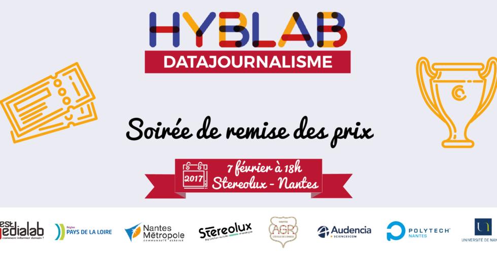 Soirée de remise des prix du HybLab datajournalisme 2017