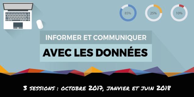 Formation «Informer et communiquer avec les données» : prochaines sessions