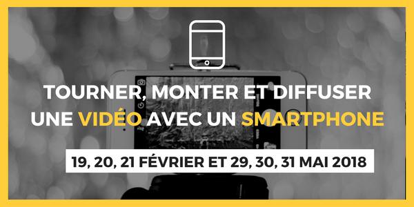 Tourner, monter et diffuser une vidéo avec un smartphone : prochaines sessions de formation