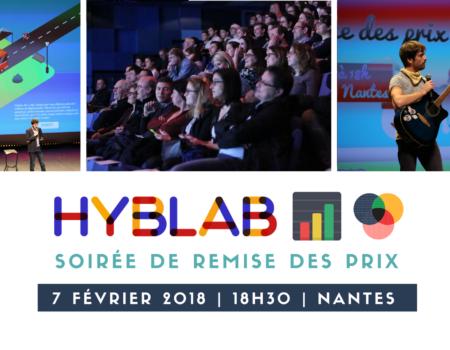 Soirée de remise des prix HybLab nantais dédié au datajournalisme