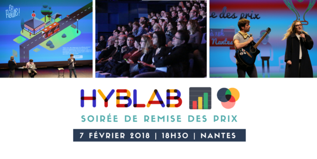 Soirée de remise des prix HybLab nantais dédié au data journalisme
