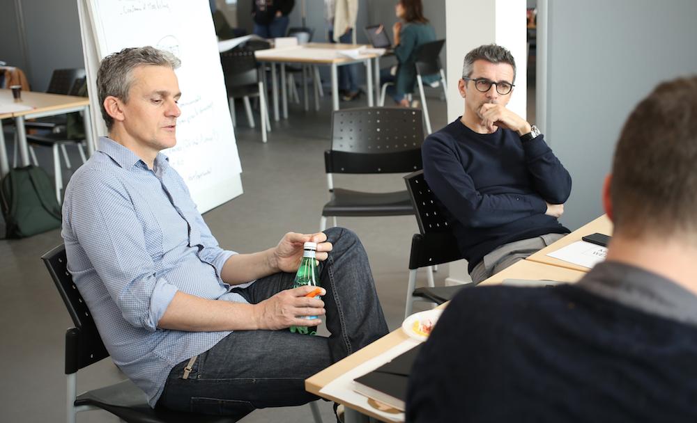 Guénolé Seiler, délégué numérique chez France 3 Pays de la Loire et Hervé Barbot, directeur et développement du groupe Sipa Ouest-France, tous deux mentors sur le Media Mix Week-end
