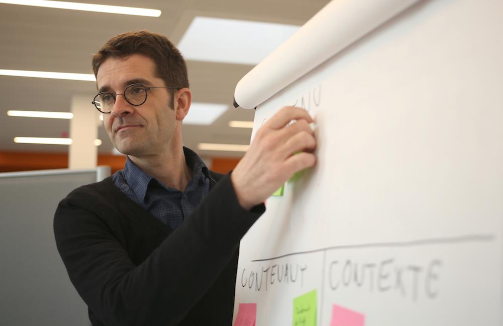 Pascal Couffin, porteur du projet Hein?!, média numérique qui s'adresse aux parents d'adolescents