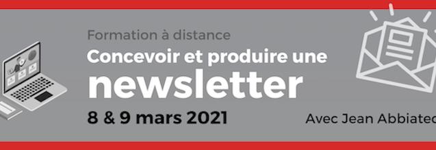 Concevoir et produire une newsletter (formation à distance)